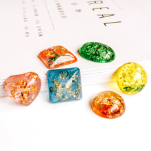10pcs Square Round Resin Cameo Cabochons Mixed Colors Pendant Necklace Setting Supplies for Jewelry Accessories Flat Back Base