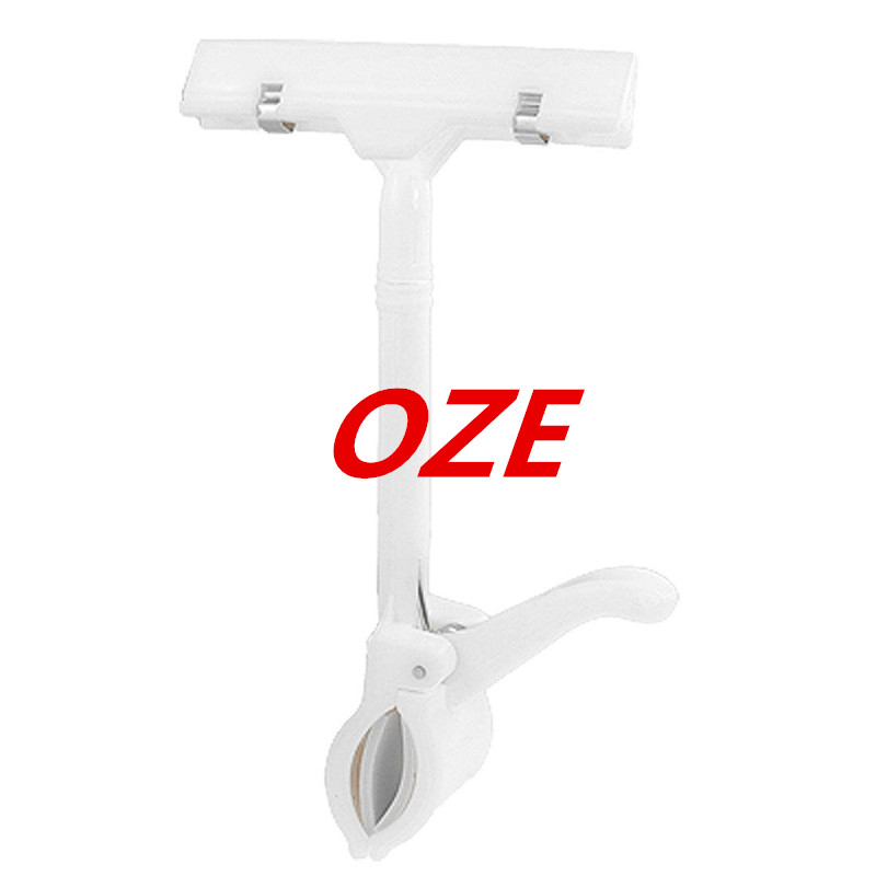 1PCS Supermarket Rotatable White Plastic POP Thumb Display Sign Clip