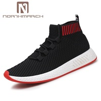 NORTHMARCH Men Fly Knitted Shoes For Man Sneaker Male Fashion Sock Shoes Breathable Causal Shoes Men Summer Shoes Krasovki Men