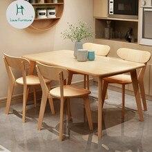 Луи моды Обеденная комплекты небольшой квартире Северной Европы Комбинации прямоугольный современная простота