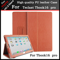 Ultra Slim 3-Folder Mangetic Litchi Silk Flip Stand PU Leather Cover Case For Teclast Tbook16 pro 11.6 inch Tablet pc