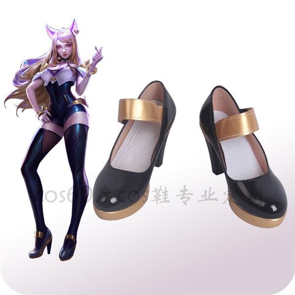 Le jeu chaud LOL Cosplay chaussures le renard à neuf queue Ahri noir talons hauts livraison gratuite A