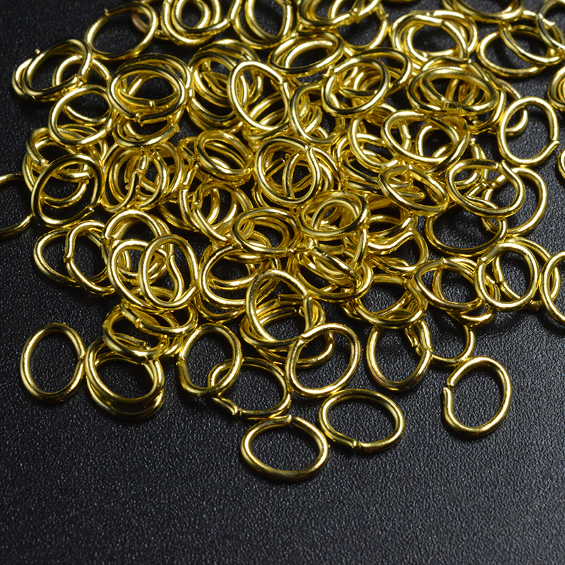 FLTMRH 1000pcs/lot Fashion Iron Oval Open Jump Rings For Necklace Bracelet DIY Jewelry Making Part Accessory 4*3mm