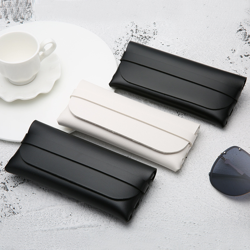 Portable Sunglasses Case Durable Glasses Box For Women Cassette Eyeglass Case Men PVC Leather Glasses Case Bag