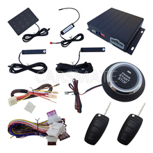 Smart PKE Car Alarm System With Flip Key Remote Controls Push Button Start & Remote Start Engine With Password Keyboard