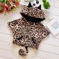 2015 new autumn winter cute animal print baby girls coats Plus velvet warm cartoon style infants cape suit 0~2 age boys shawl