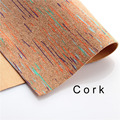 cork fabric Natural colorful cork leather natural Material Kork 60*88cm/23.6*34.6inch Cor-32