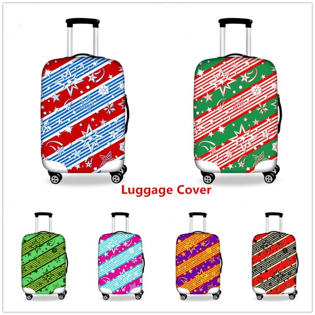 FORUDESIGNS Fashion Multi Color Covers For Trolley Suitcase Elastic Luggage Protective Cover Dust-proof Travel Accessories