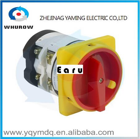 Factory Supplied YMZ12-125/2GS Combination switches Changeover switch rotary switch 2 pole sliver contacts contacts