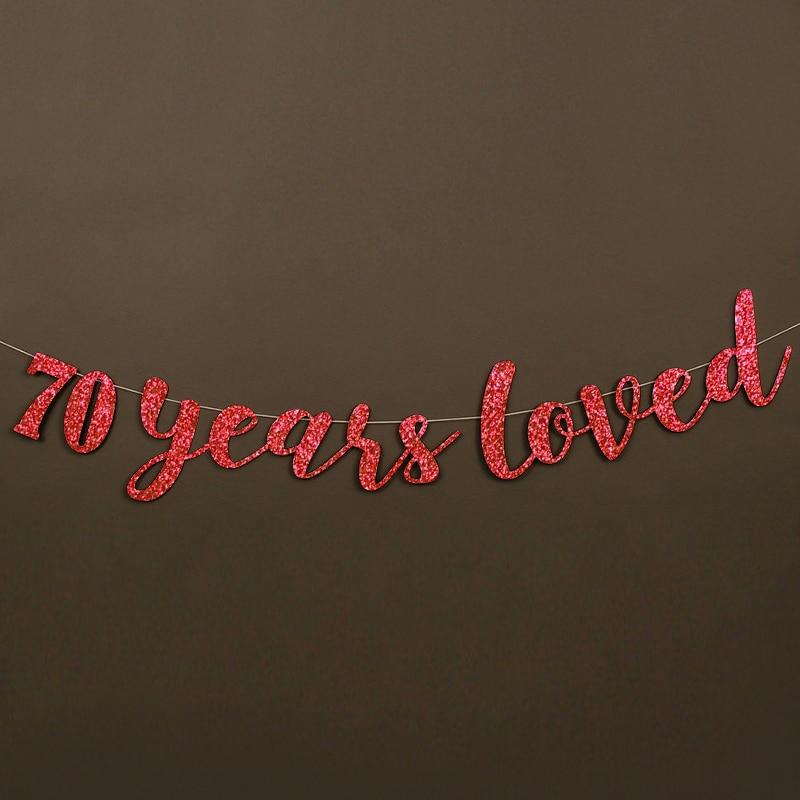 70 años adoró Glitter Banner 70.a Fiesta de cumpleaños - Para fiestas y celebraciones - foto 4