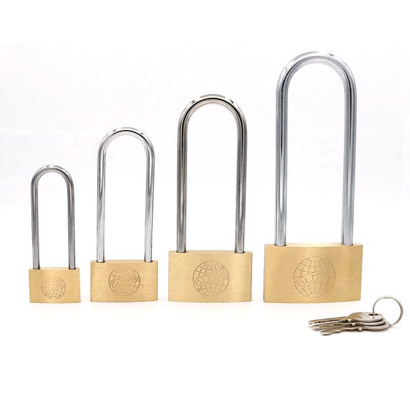 High Quality Brass Padlock Long Lock Beam One Key Unlock Many Locks Anti-theft Door Cabinet Padlock 30mm/40mm/50mm/60mm 1pcs anti theft padlock iron gate security locks square small lock width 40mm 50mm 60mm 70mm with keys kf1079