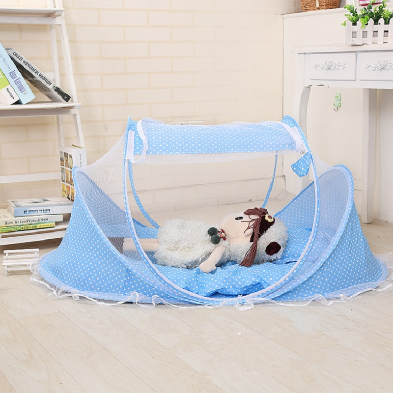 Hot Portable Baby Kids Bed Decorative Mosquito Net Baby Girl Folding - Tekstil rumah - Foto 2