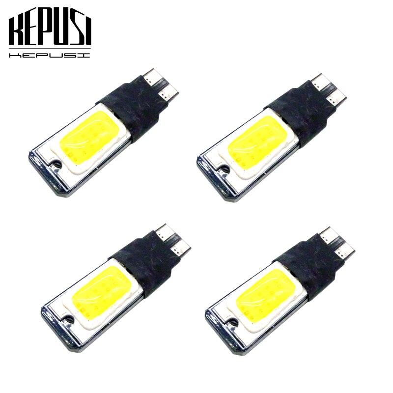 4pcs t10 w5w led High power cob car 5w5 12v t 10 bule white light fog Lamp interior canbus error fre