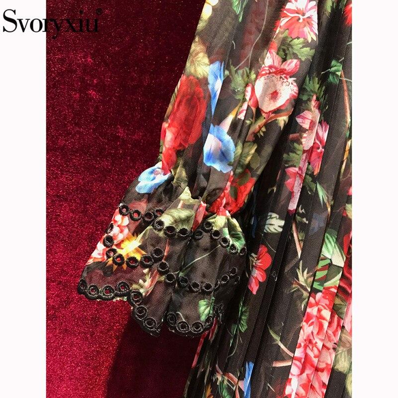 En Svoryxiu Robe Vintage Cascade Imprimé Vacances Concepteur Pour 2019 À Fête Volants D'été Plage De Femmes Vestdios Marque Floral Multi 4X4rqw6