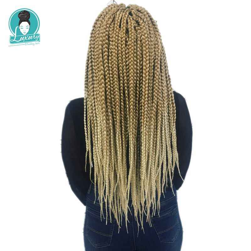 Роскошные для плетения синтетических волос, 12 цветов, Ombre, два тона, 24 дюйма, 12 прядей/шт, 10 шт./лот, 110 г, огромные косички для вязания крючком