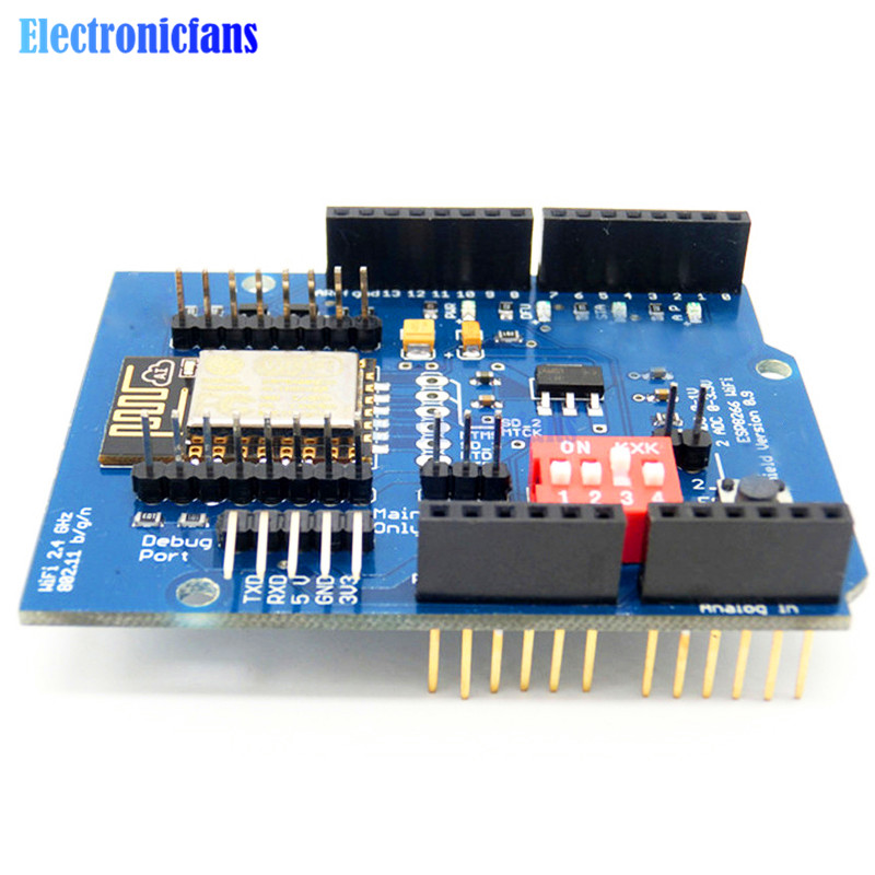 Esp e uart wifi wireless shield development