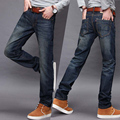 New 2017 men's fashion boutique pure color lines casual jeans / Upscale boutique male blue jeans Men pants