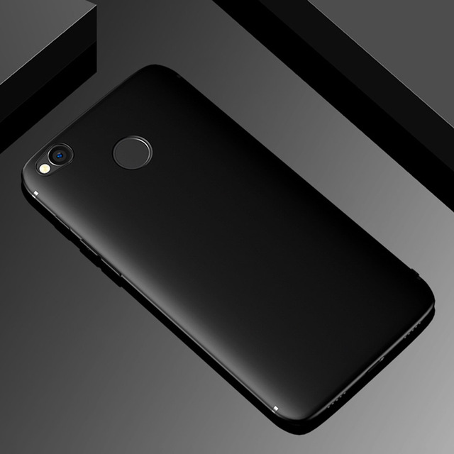 Funda de silicona para Xiaomi Redmi 4X, carcasa suave equipada de TPU con superficie mate a prueba de golpes para Xiaomi Redmi 4X
