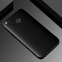 Силиконовый чехол для Xiaomi Redmi 4X, ударопрочный, матовая поверхность, мягкий ТПУ, чехол для Xiaomi Redmi 4X, чехол с защитой от отпечатков пальцев