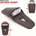 Светодиодный задний фонарь для мотоцикла универсальный эндуро пробный Байк 12В стоп-сигнал задний крыло Taillamp Clear