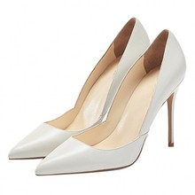Big Size Spring Autumn Pumps Female Genuine Leather Pointed Toe Thin Heels Sexy Black White Sliver Thin Heels Pumps Shoes D049A цена