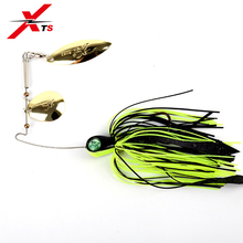 XTS 1 PCS/Bag Fishing Lure 13g 6g Full Aqueous Layer Metal Spoon 3 Colors Spinner Baits Rubber Jig Tackle 3306