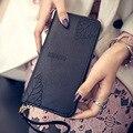 Em 2016 coin bolsas carteira carteira impressa folhas longas mulheres saco preto de couro vermelho PU tecido moda personalidade frete grátis