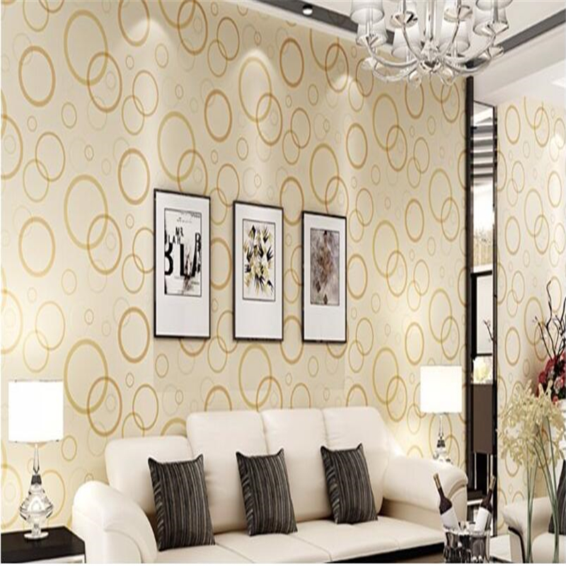 ФОТО beibehang Modern minimalist style personalized fashion  wallpaper circle circle TV backdrop bedroom bedroom non - woven wallpap