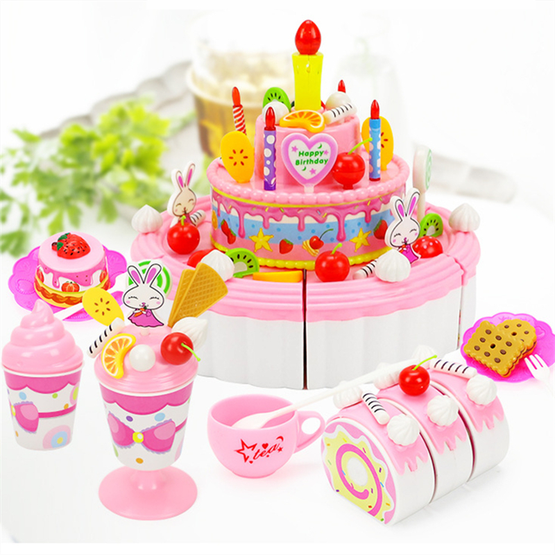 Excellent 103Pcs Abs Plastic Cake Toys Childrens Classic Kitchen Toys 6 Personalised Birthday Cards Xaembasilily Jamesorg