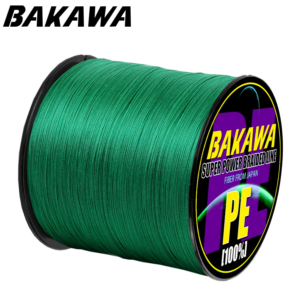 BAKAWA  4 Braided Fishing Line   Length:300m/330yds  Diameter:0.2mm-0.42mm,size:10-85lb Japan PE Braided Line  Floating Line