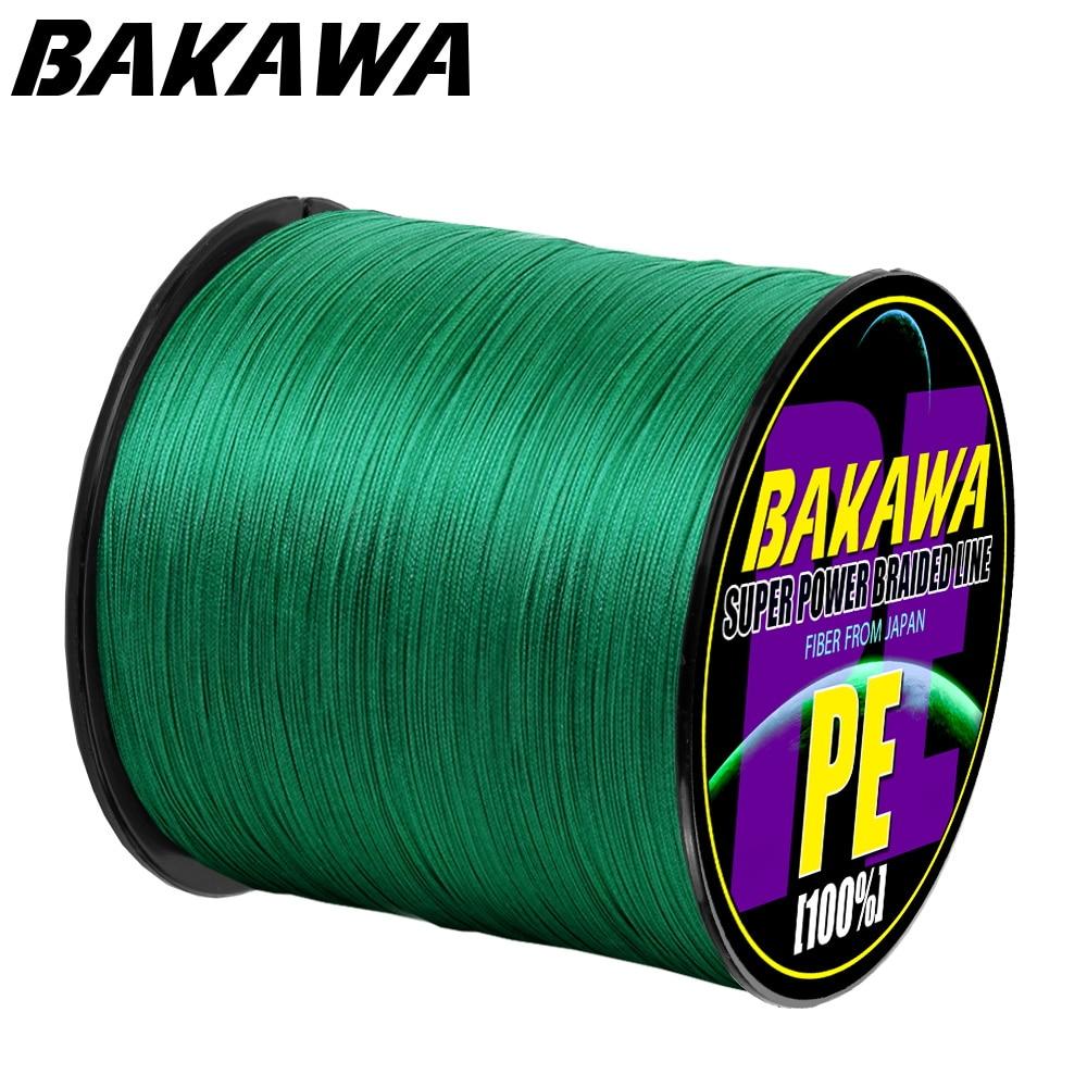 BAKAWA  4 Braided Fishing Line   Length:300m/330yds  Diameter:0.2mm-0.42mm,size:10-85lb Japan PE Braided Line  Floating Line