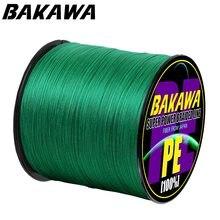 Bakawa 4 trançado linha de pesca comprimento: 300m/330yds diâmetro: 0.2mm-0.42mm, tamanho: 10-85lb japão pe linha trançada linha flutuante