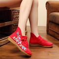 2017 Mujeres de La Manera Ocasional Zapatos de Los Planos de Estilo Chino Bordado Cómodo Mary Janes Viejo Pekín Zapatos Oxford Para Las Mujeres