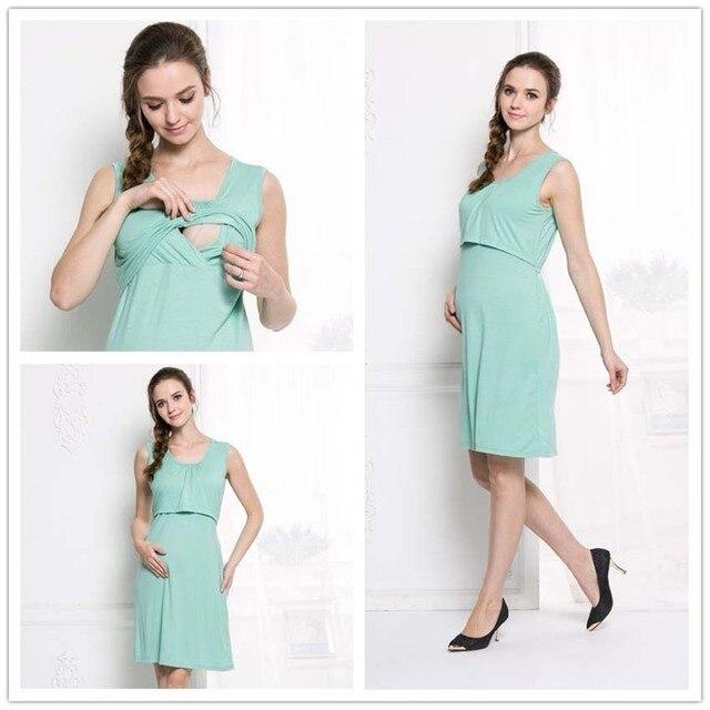 Summer Maternity Dresses Cat Pattern Pregnant Women Nursing Clothes ...