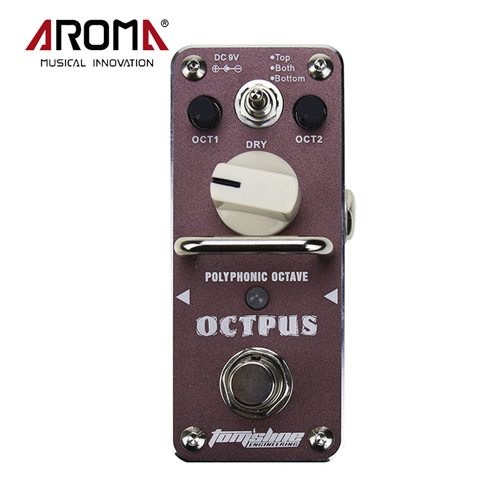 AROMA AOS-3 OCTPUS Octave Polyphonic Electric Guitar Effect Pedal Metal Shell True Bypass Guitar Accessory aroma aos 3 aos 3 octpus polyphonic octave electric mini digital guitar effect pedal with aluminium alloy true bypass