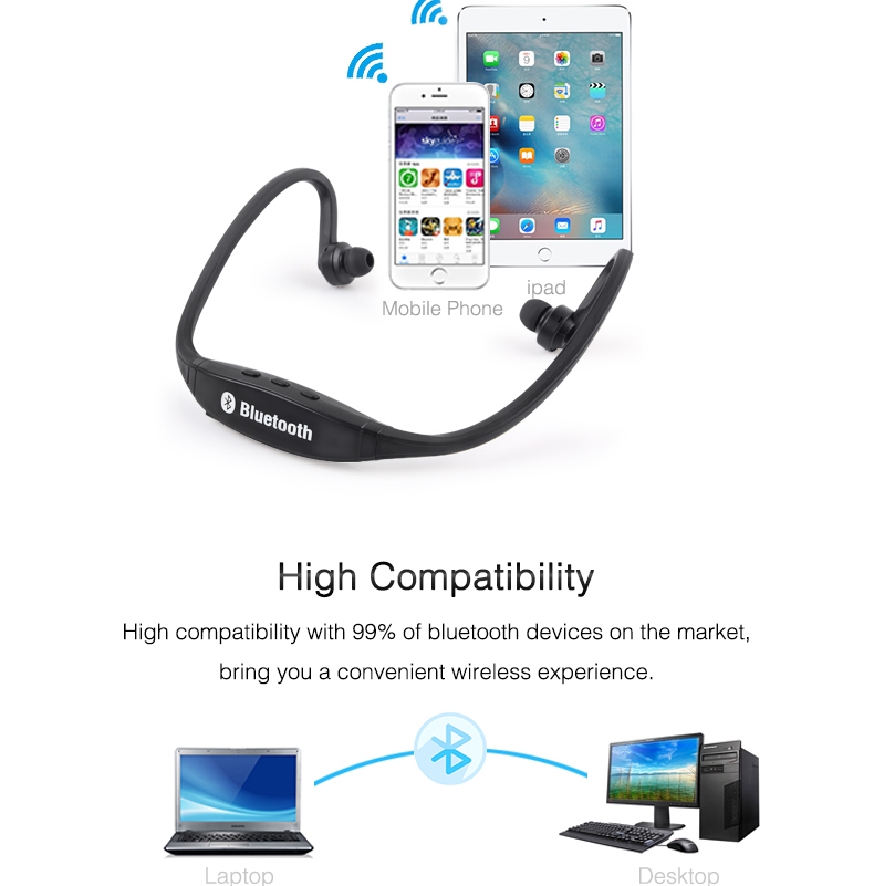 Wireless Bluetooth Earphones with Microphone Neckband Headphones for Mobile Phone Sweatproof Bluetooth Headset for Xiaomi iPhone (8)