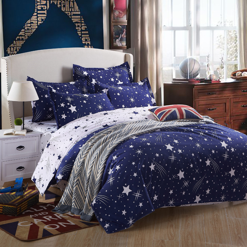 3/4pcs Meteor shower Bedding Set Polyester Cotton Soft Bed Linen Duvet Cover Pillowcases Bed Sheet Sets Home Textile Coverlets