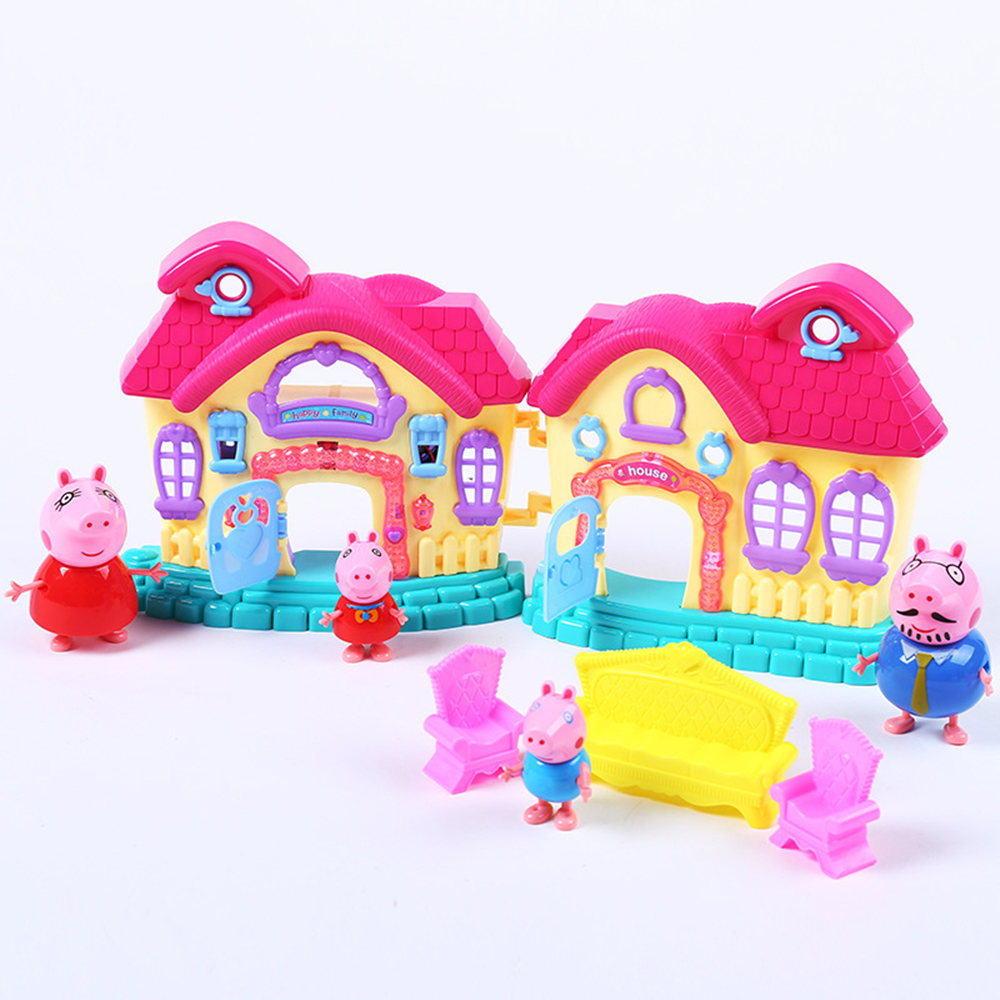 Pig toys set children 's educational toys creative gifts girls Puzzle Plastic More than three years old intellectual development dayan gem vi cube speed puzzle magic cubes educational game toys gift for children kids grownups