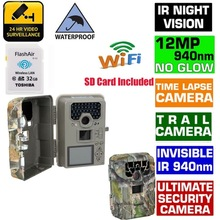 1080P 12MP Digital Hunting Camera Blueskysea SG-880V Motion Detection Infrared Wildlife Trail Scouting Camera+32GB Wifi SD Card