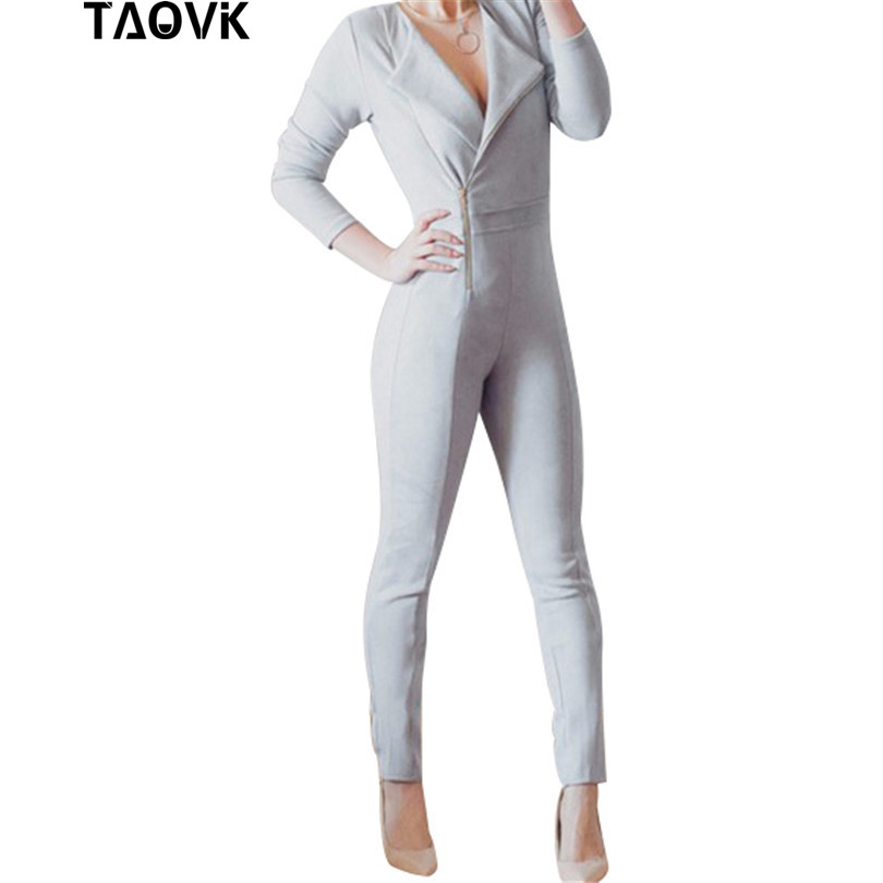 TAOVK fashion Women's suede bodysuits Spring and Autumn women cloth
