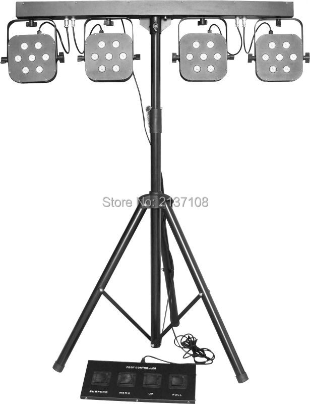 Hot Cheap Price DJ Disco Party Wedding Stage Effect Project 28*3W 4 Set 7PCS RGB 3IN1 LED Par Light