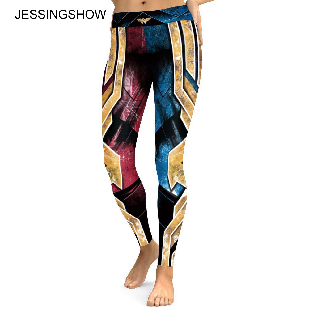 c3275cd25a3f9 NEW Arrival Sexy Girl Old Glory The Avengers Wonder Woman 3D Prints High  Waist Fitness Legging