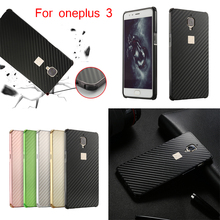For oneplus 3 Case Aluminum Metal Frame+Carbon Fiber Hard Cover for A3000 1+3 OnePlus3 Shockproof Phone Shell
