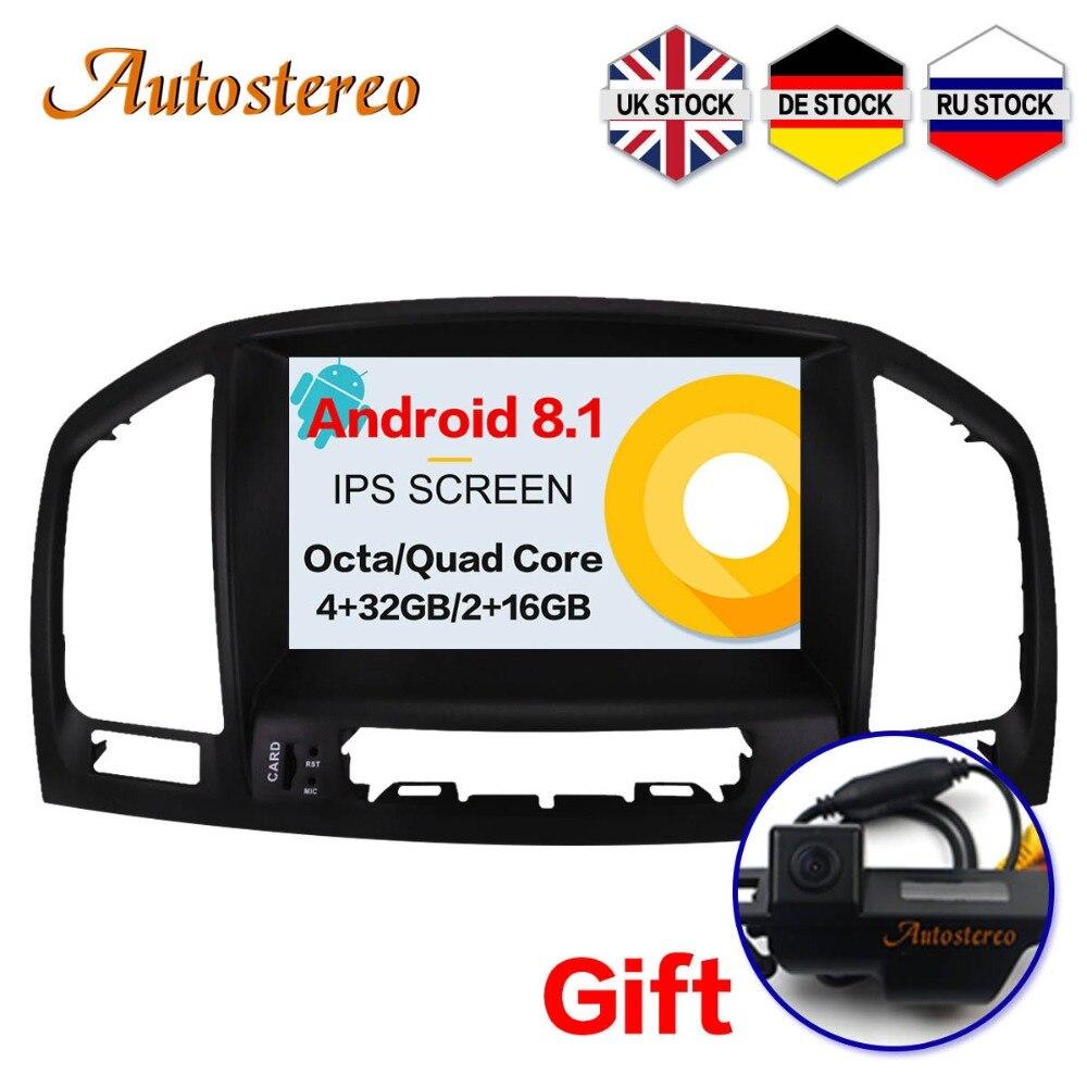 Reproductor de DVD para coche Android 8,1 autoestéreo para Opel Vauxhall Holden Insignia 2013-2008 unidad principal GPS navegación cinta de radio multimedia