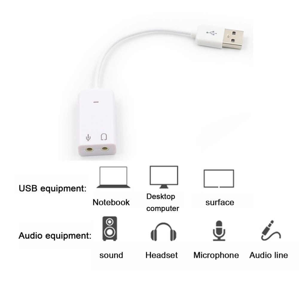 Image 3 - External USB Sound Card 3D Virtual 7.1 Channel Audio Sound Card Adapter Plug & Play For PC Desktop Laptop Notebook-in Sound Cards from Computer & Office