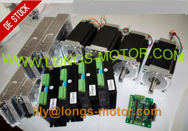 EU Free CNC LONGS 4Axis Nema 34 Stepper Motor 34HS1456 5 6A 1232oz in Driver DM860A_640x640 aliexpress com buy eu free! cnc longs 4axis nema 34 stepper dm860a wiring diagram at mifinder.co