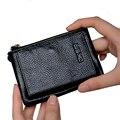 Небольшой Бумажник мужчины многофункциональный кошелек мужчины кошельки с монета карман на молнии мужчины кожаный бумажник мужской известный бренд мешок денег