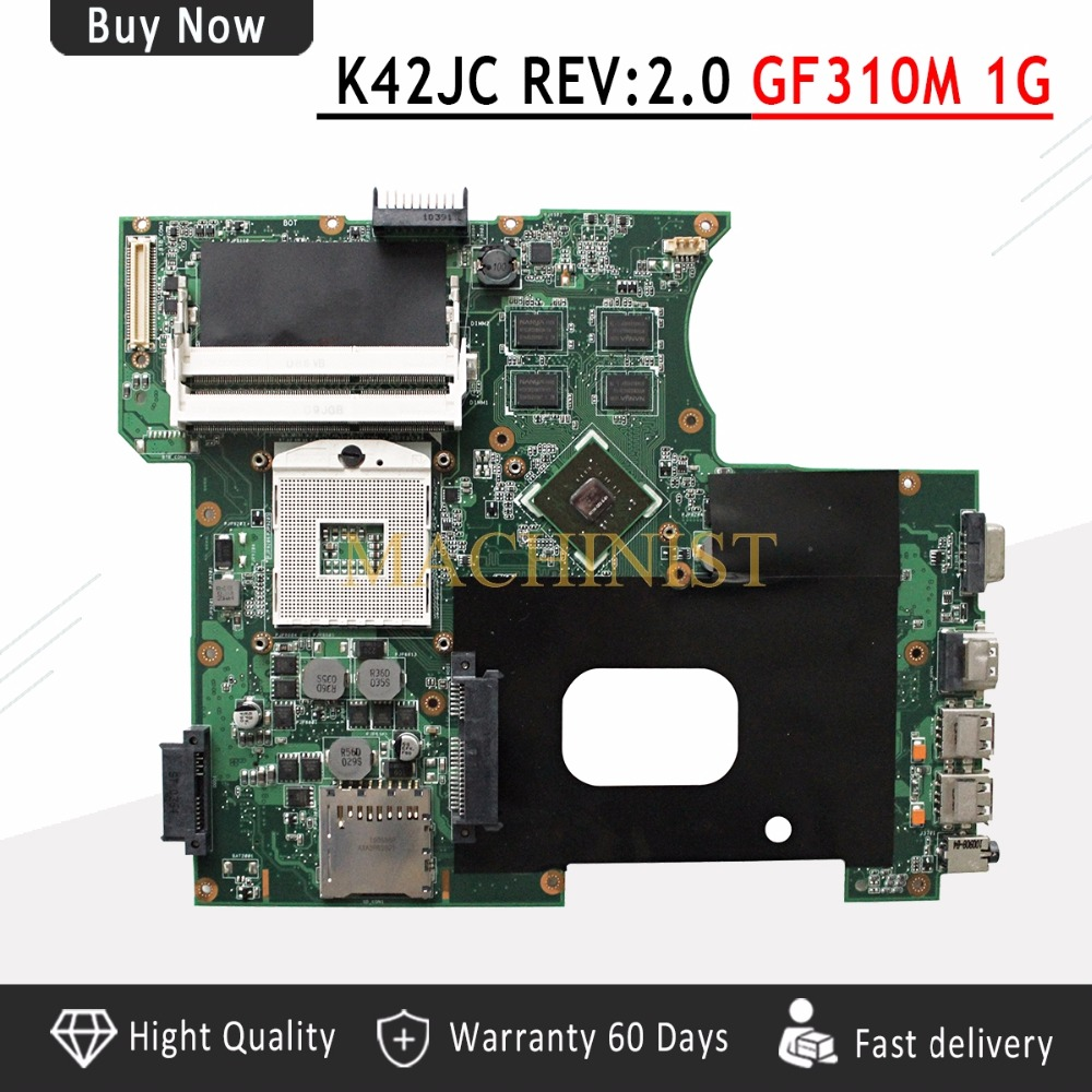 K42JC Motherboard REV2 0 GT310M 1GB 8 pieces For ASUS A42J K42J K42JC Laptop motherboard K42JC