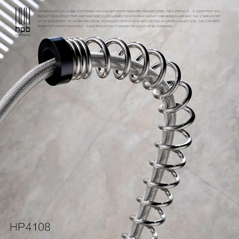 HPB Massivem Messing Ein Loch Deck Berg Küchenarmaturen mit Pull ...