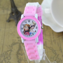 reloj Children Watches For Girls Cartoon Frozen Silicone Student